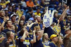 2015 basket-ball de NCAA - état du WVU-Oklahoma Photographie stock