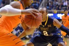 2015 basket-ball de NCAA - état du WVU-Oklahoma Images libres de droits