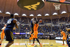 2015 basket-ball de NCAA - état du WVU-Oklahoma Photos stock
