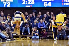 2015 basket-ball de NCAA - état du WVU-Oklahoma Photos libres de droits