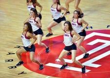 2014 basket-ball de NCAA - acclamation/danse Images libres de droits