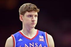 2014 basket-ball de NCAA - le Kansas au temple Image stock