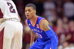 2014 basket-ball de NCAA - le Kansas au temple Images stock