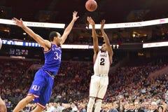 2014 basket-ball de NCAA - le Kansas au temple Photo stock