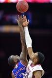 2014 basket-ball de NCAA - le Kansas au temple Photo libre de droits
