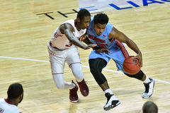 2015 basket-ball de NCAA - temple contre l'état du Delaware Images libres de droits