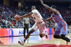 2015 basket-ball de NCAA - temple contre l'état du Delaware Photos libres de droits