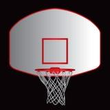 basket-ball de panneau arrière Photographie stock libre de droits