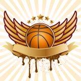basket-ball et aile Photos stock