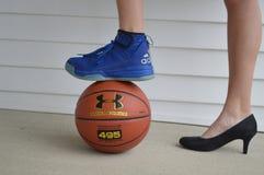 Basket-ball et retours au pays Photographie stock libre de droits