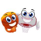 Basket-ball et Ring Board Mascot Photo libre de droits
