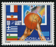 Basket-ball européen Chempionship Images libres de droits
