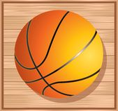 Basket ball on floor Royalty Free Stock Photos