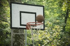 Basket Ball and a Hoop royalty free stock photography
