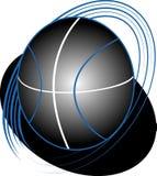 Basket-ball foncé Photographie stock
