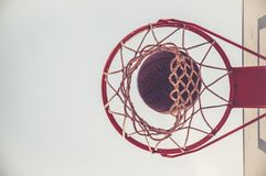 Basket Ball Game Royalty Free Stock Photos