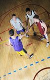 Basket ball game player at sport hall Royalty Free Stock Photos