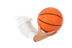 Basket ball, hand. Stock Images