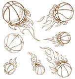 Basket ball  hand draw Stock Photos
