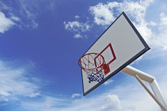Basket ball hoop. With blue sky Stock Photo