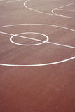 Basket Ball Hoop. A basket ball hoop on an out door court Royalty Free Stock Images