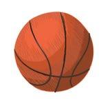 Basket-ball Illustration tirée par la main de vecteur Images stock