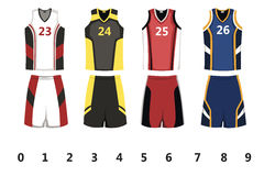 Basket-ball Jersey Photos libres de droits