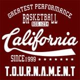 Basket-ball la Californie de conception Images libres de droits