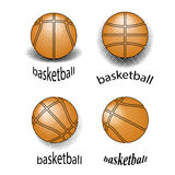 Basket-ball Logo Design grunge créatif Images stock