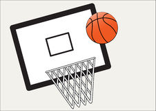 Basket ball and net and board Royalty Free Stock Photography