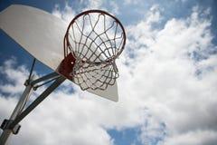 Basket ball net outdoors Royalty Free Stock Photos