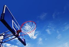 Basket ball net and rim Royalty Free Stock Image