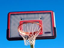 Basket ball net and ring. With empty badge Royalty Free Stock Photo