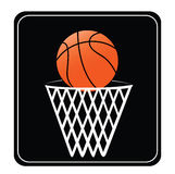 Basket ball and net Stock Images