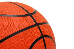 Basket-ball orange d'isolement Photo stock