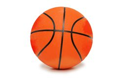 Basket-ball orange d'isolement Images stock