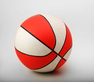 Basket-ball orange et blanc Photo stock