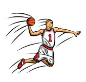 Basket Ball Player Royalty Free Stock Image