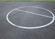 Basket ball ring in a park. Most of the children parks in vancouver washington has basket ball ground in it for children stock images