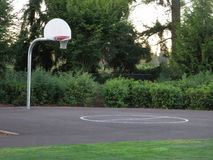 Basket ball ring in a park. Most of the children parks in vancouver washington has basket ball ground in it for children royalty free stock image