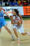 Basket-ball russe 2009 de femmes Photos stock