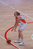 Basket-ball russe de femmes Image libre de droits