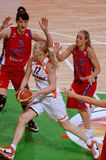 Basket-ball russe de femmes Photographie stock libre de droits