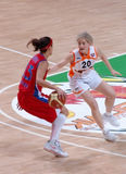 Basket-ball russe de femmes Photos stock