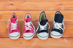Free Basket Ball Shoes At The Floor Stock Images - 37809394