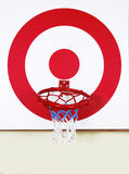Basket ball and shooting target board Royalty Free Stock Photos