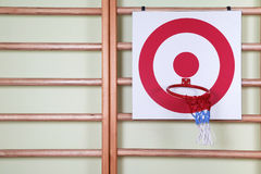 Basket ball and shooting target board Stock Photo