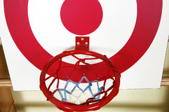 Basket ball and shooting target board Stock Photography