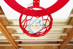 Basket ball and shooting target board Royalty Free Stock Image