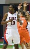 Basket-ball Silvia Fowles des Etats-Unis d'équipe de joueur Photo libre de droits